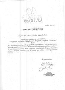 Referencje Zajazd Olivka
